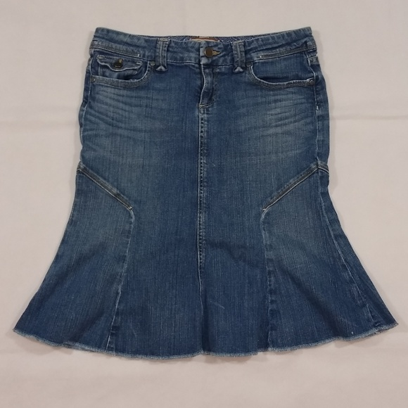 PAIGE Dresses & Skirts - Paige Skirt Size 27 Pico Blue Denim Made in USA